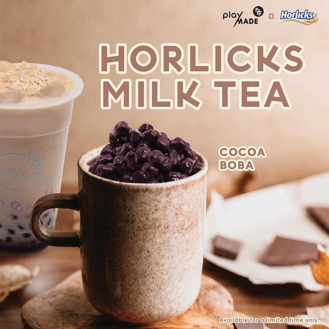 horlicks milk tea playmade