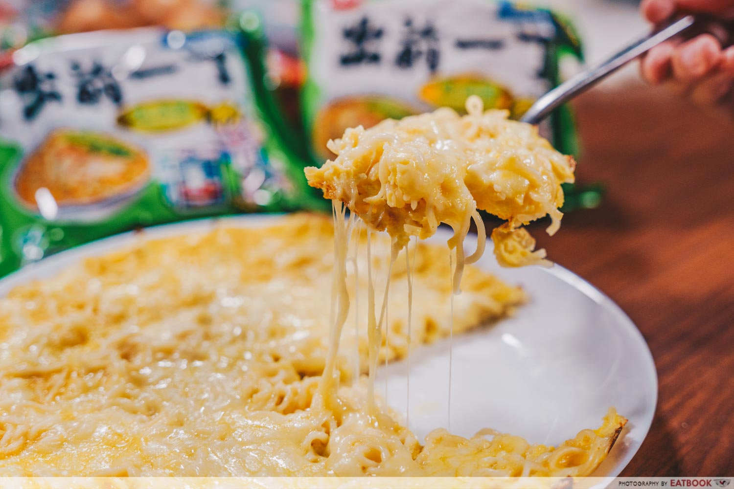 instant noodles - Cheese Omelette Noodles
