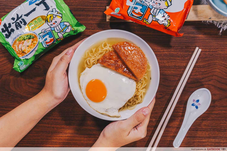 instant noodles - Hong Kong Spam and Egg Noodles