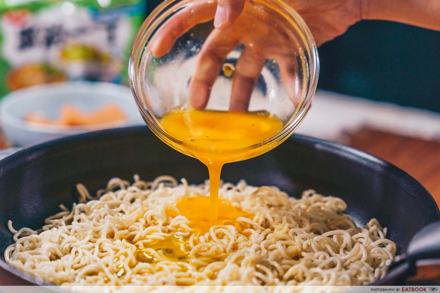 instant noodles - cheese and egg noodles