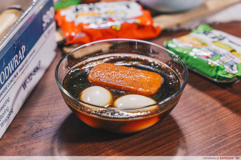 instant noodles - hanjuku eggs