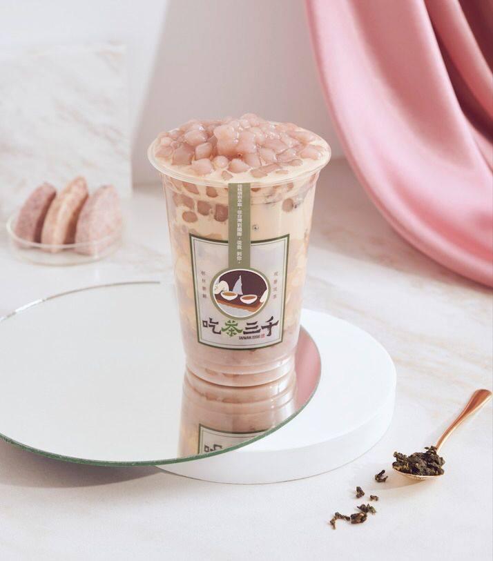 CHI CHA San Chen Milk Tea Latte With Taro Bubble