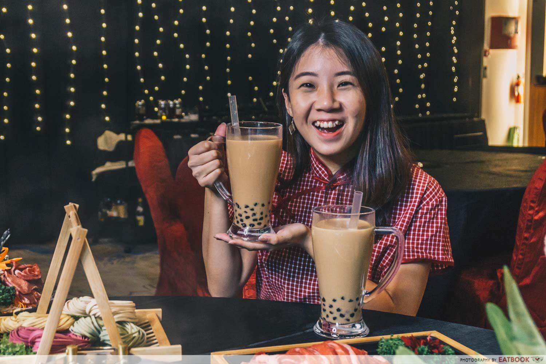 yanxi palace steamboat bubble tea