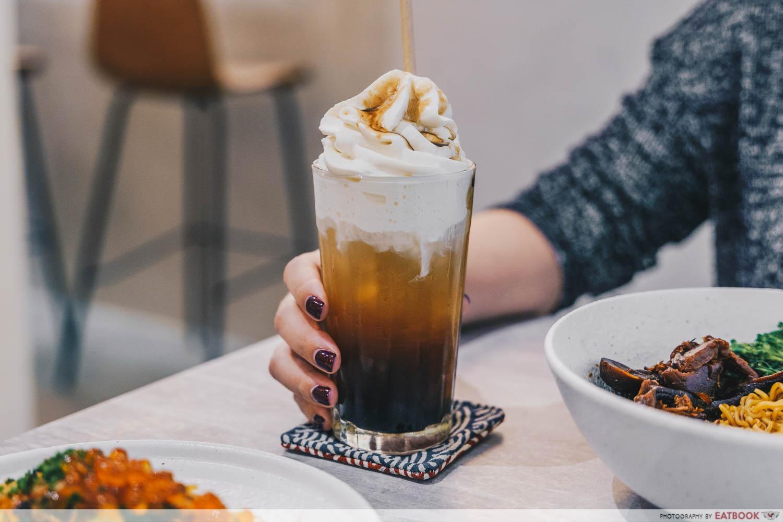 kream brown sugar milk tea
