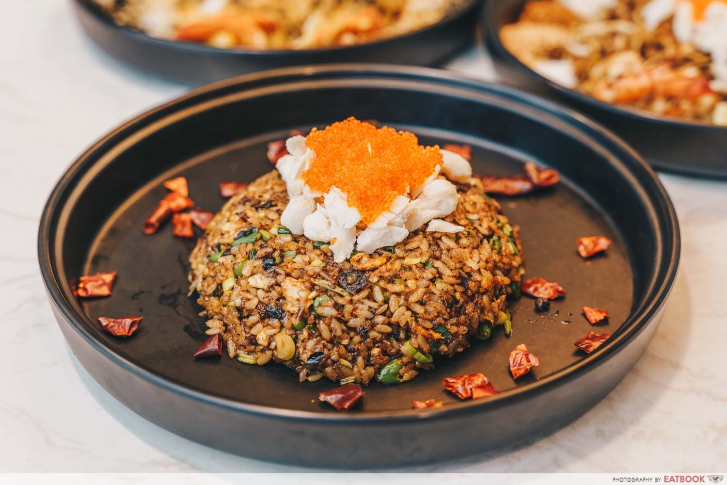 COCA crabmeat roe mala fried rice