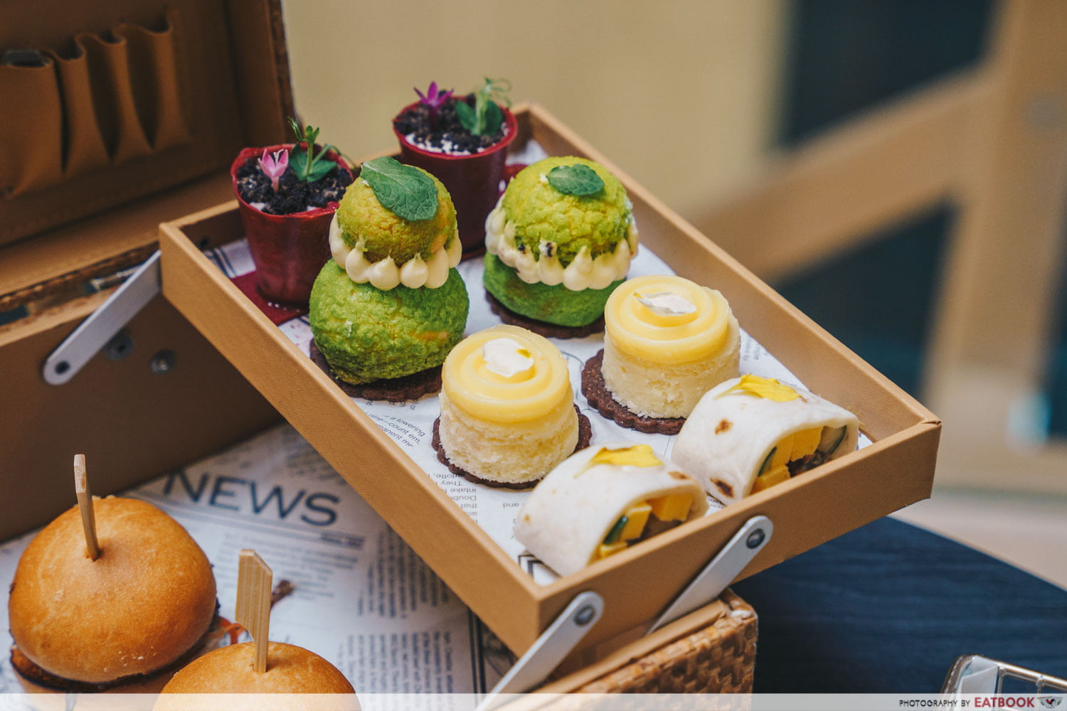 Peppermint Passionfruit Choux Puff