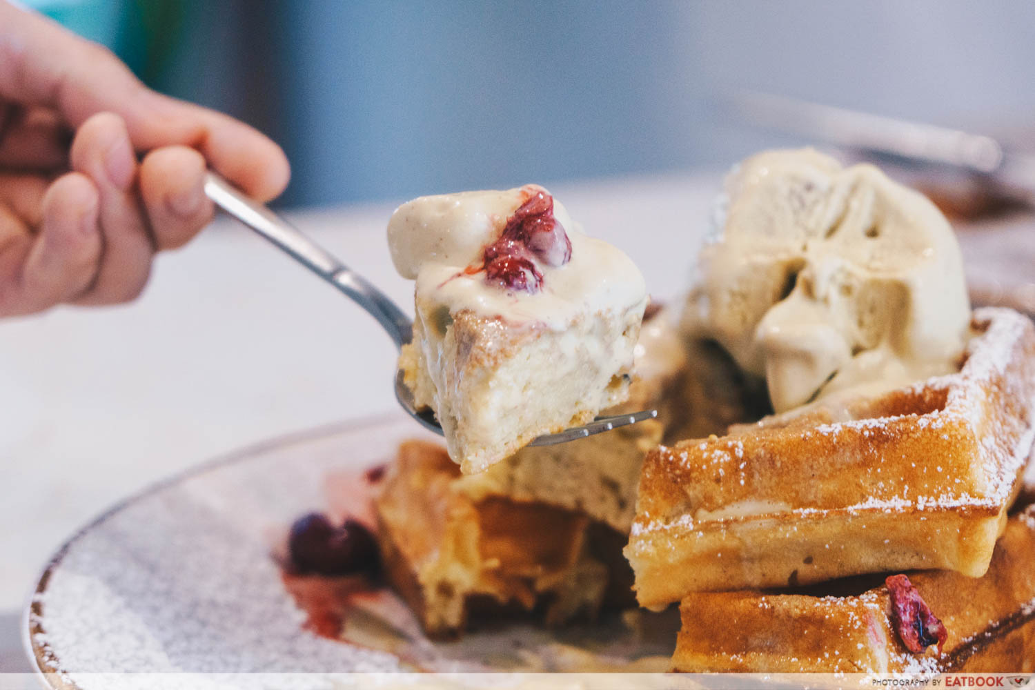 Roasted Pistachio with Waffles