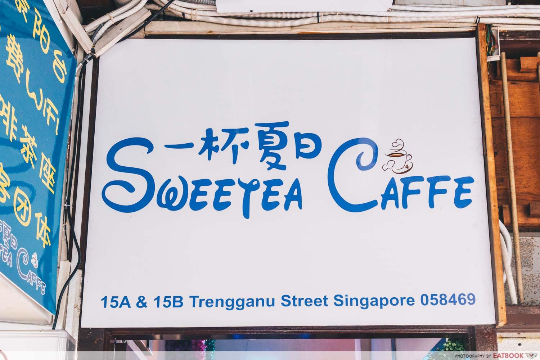 Sweetea Caffe Sign