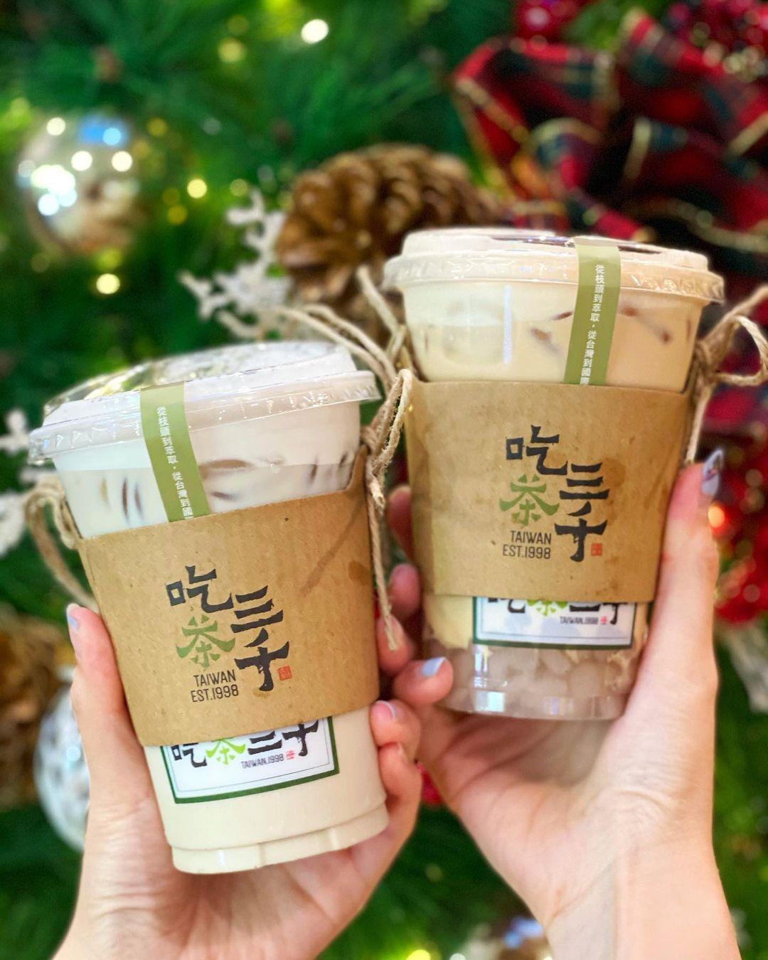 Taro Fresh Milk and Milk Tea with Taro Bubble