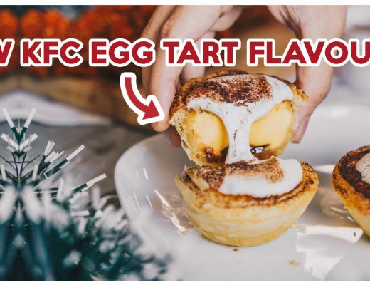 kfc marshmallow chocolate hazelnut egg tart