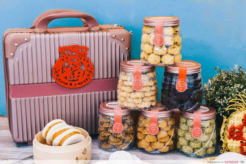 mdm ling bakery cny - rose gold suitcase