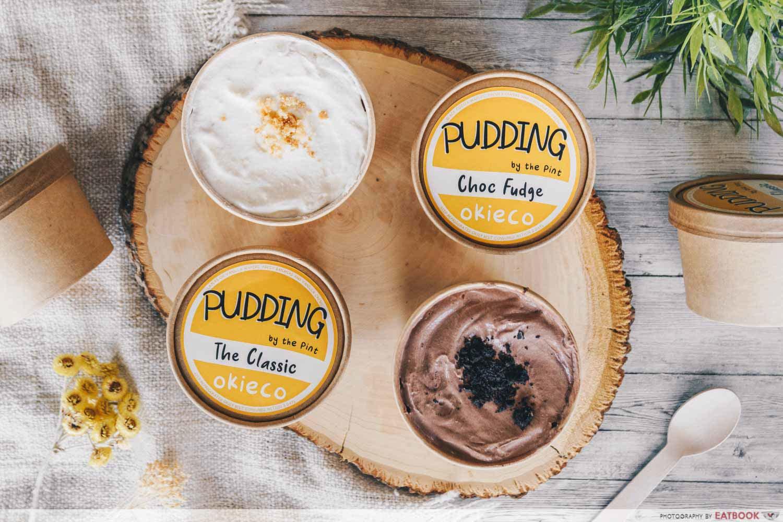 okieco pudding pints