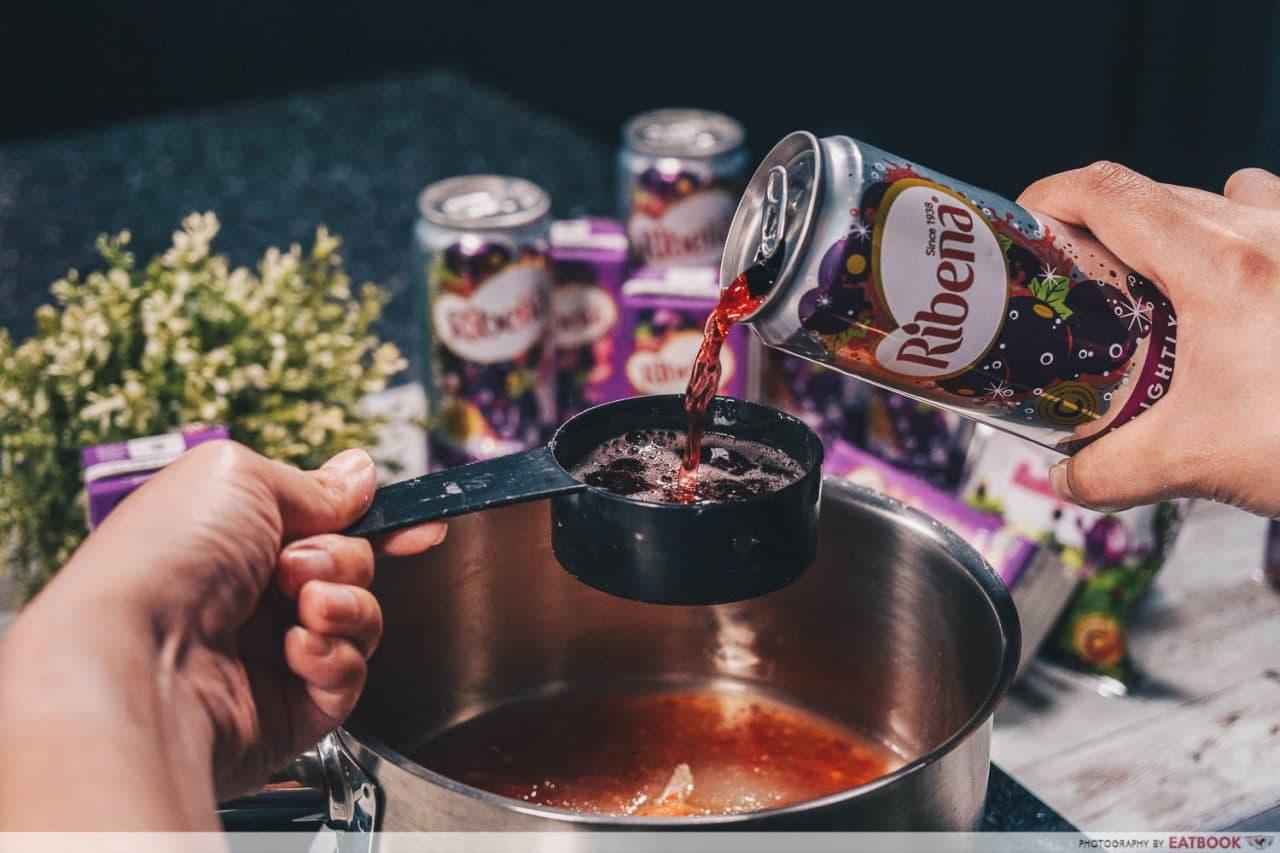 chilli tapioca ribena sauce