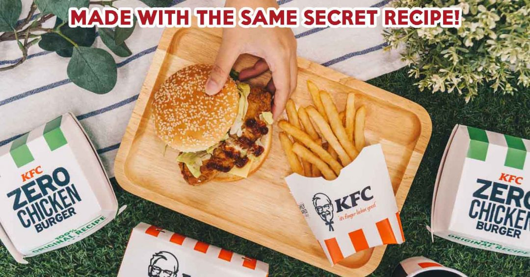 KFC zero chicken burger - feature image