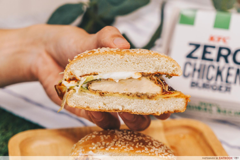 KFC zero chicken burger - patty