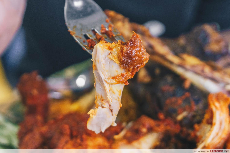 bismi briyani - chicken with sambal sauce
