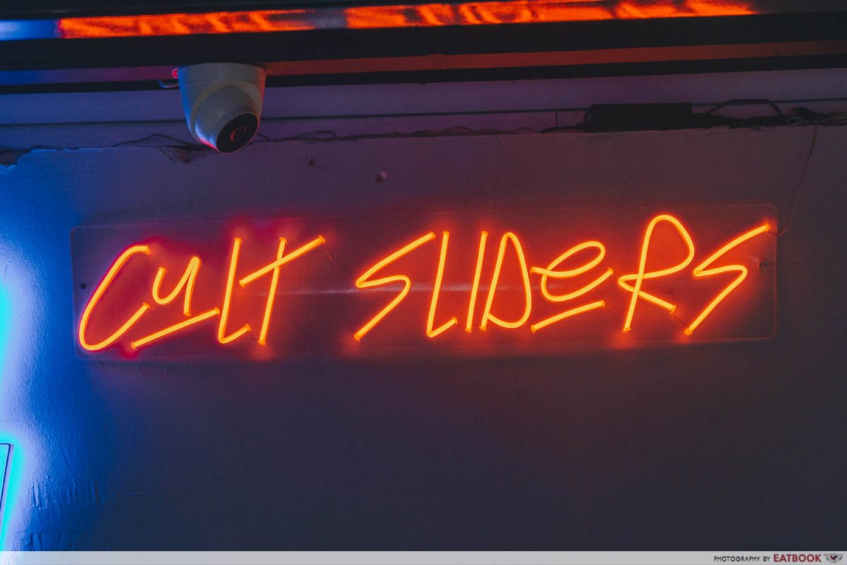 cult sliders sign