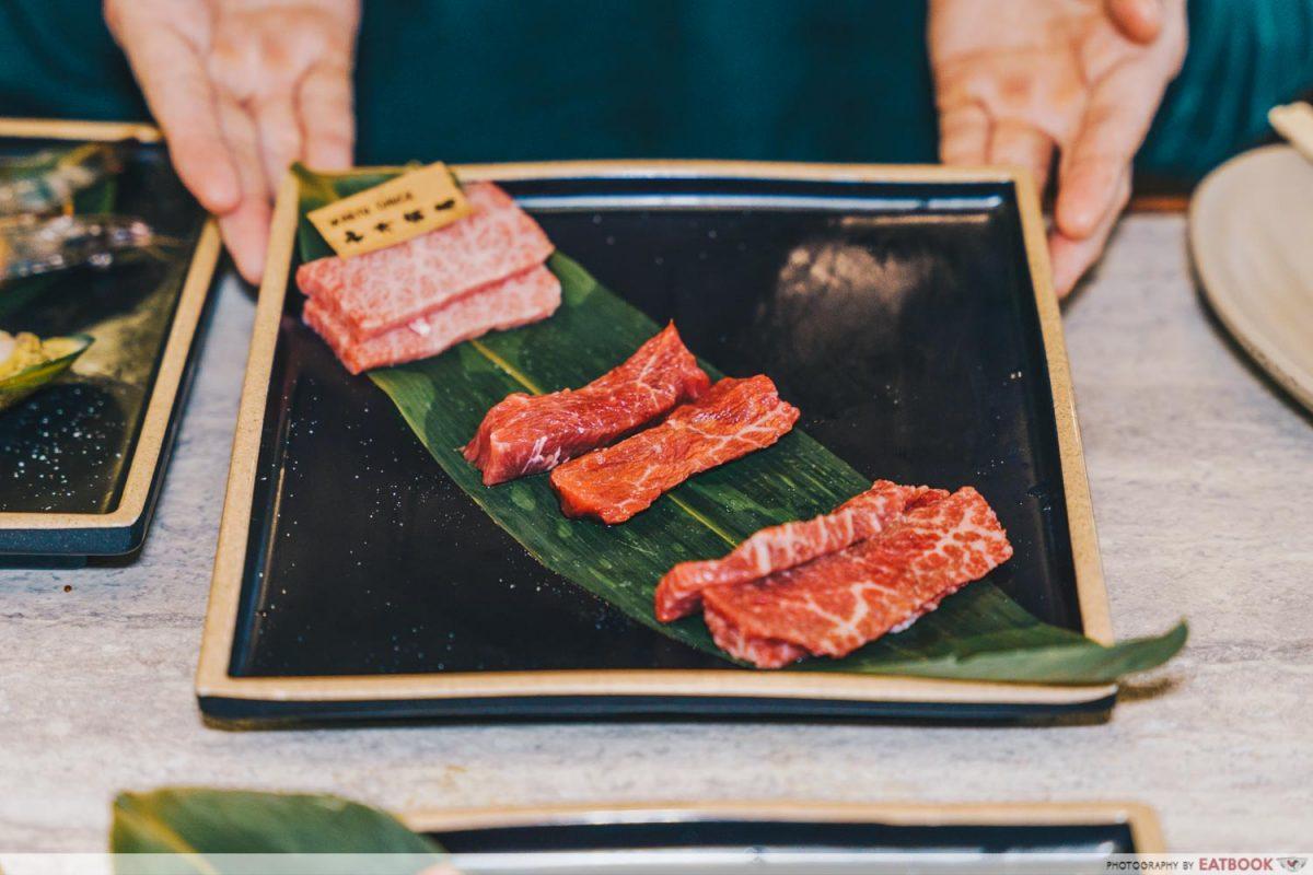 syohachi yakiniku wagyu tasting platter
