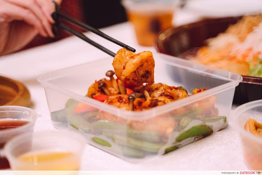 tiger prawns in spicy sauce reunion dinner