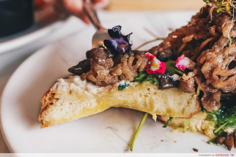 Chir cafe + Bar - bulgogi tartine bread