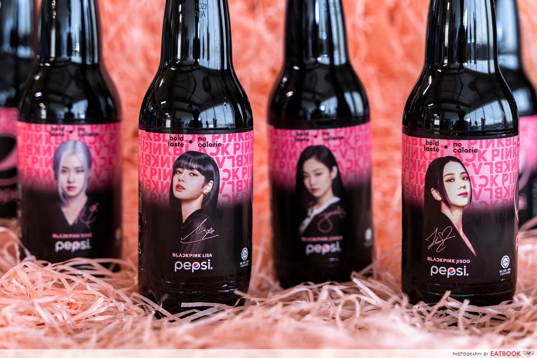 blackpink pepsi bottles