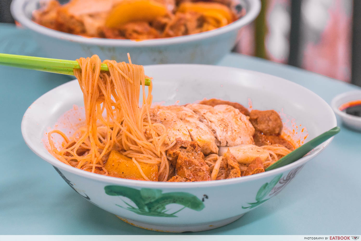Heng Kee Curry Chicken Bee Hoon Mee - Noodle pull