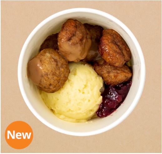 IKEA MEATBALLS IN A CUP