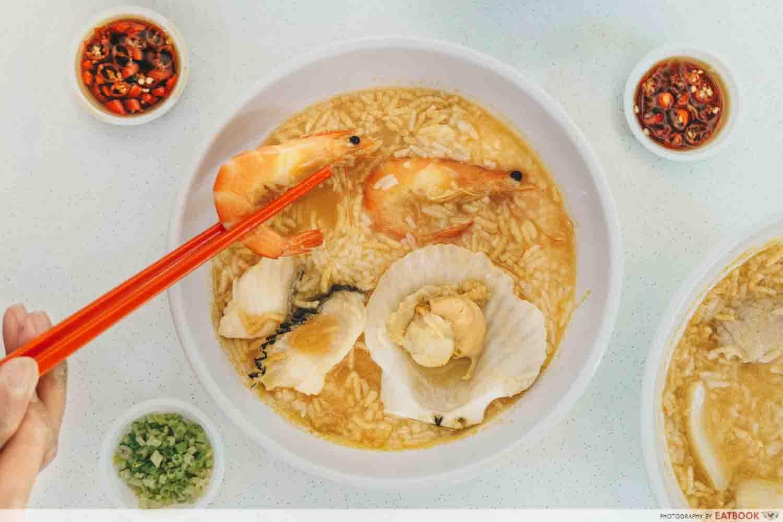 Mun's Pao Fan - seafood pao fan