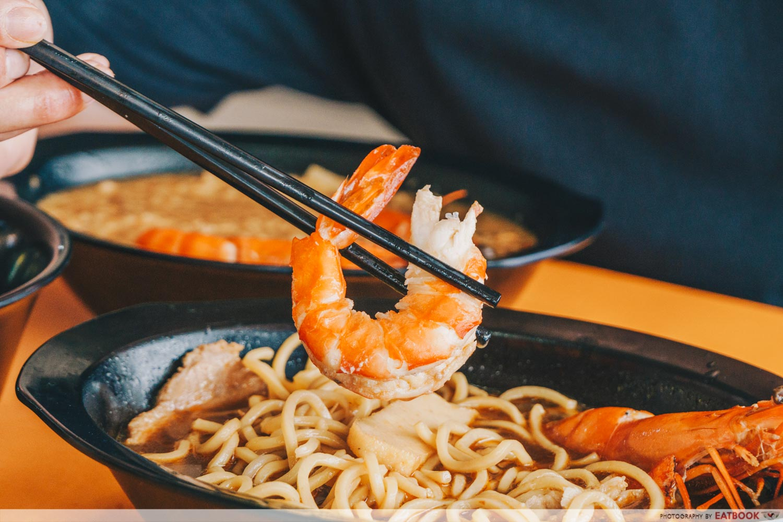 HeyMe - prawn noodle prawn shot