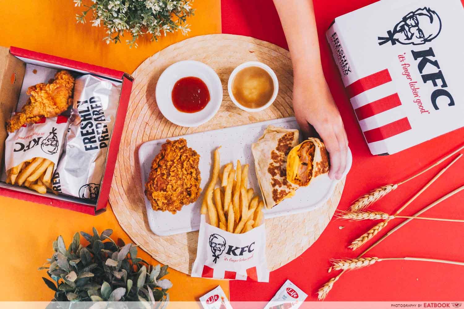 KFC zingerito - flatlay