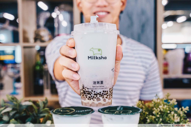 milksha taro kacang