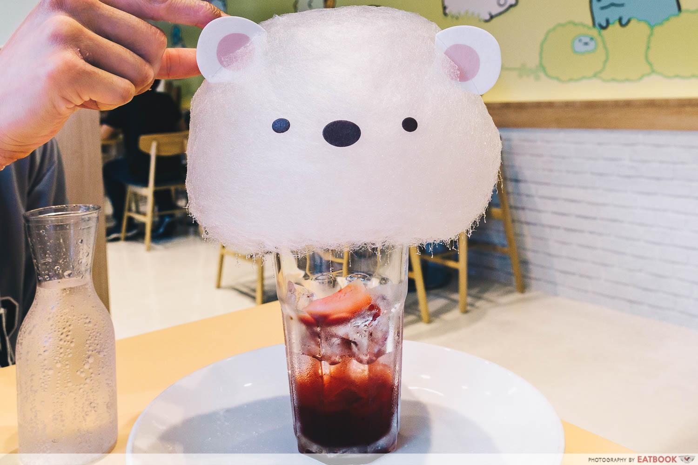 SumikkoGurashi - cotton candy drink