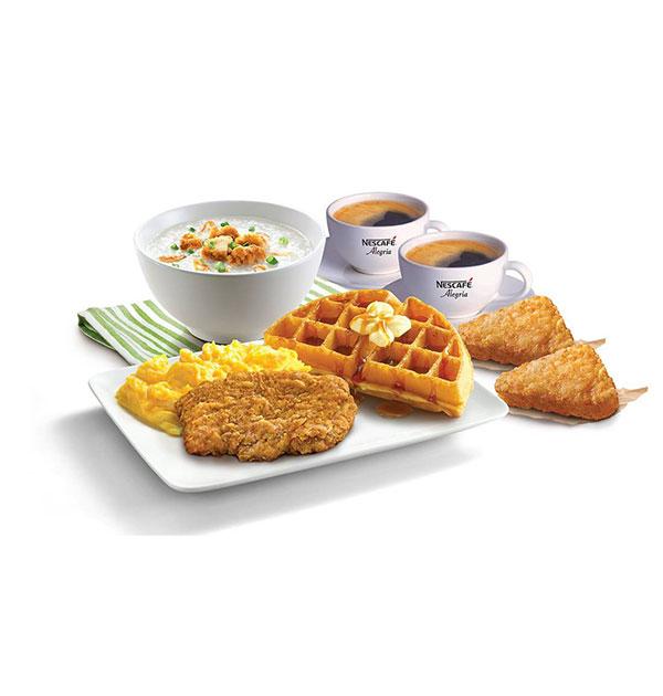 kfc breakfast waffles buddy meal