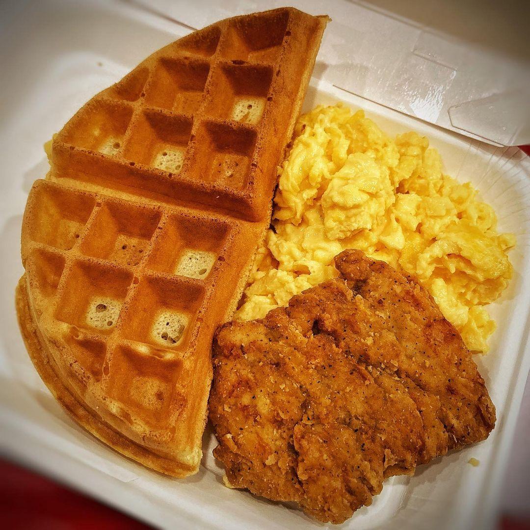 kfc breakfast waffles platter