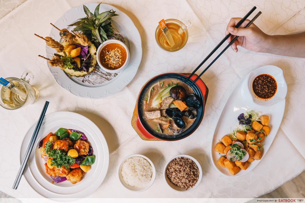 lingzhi vegetarian food singapore