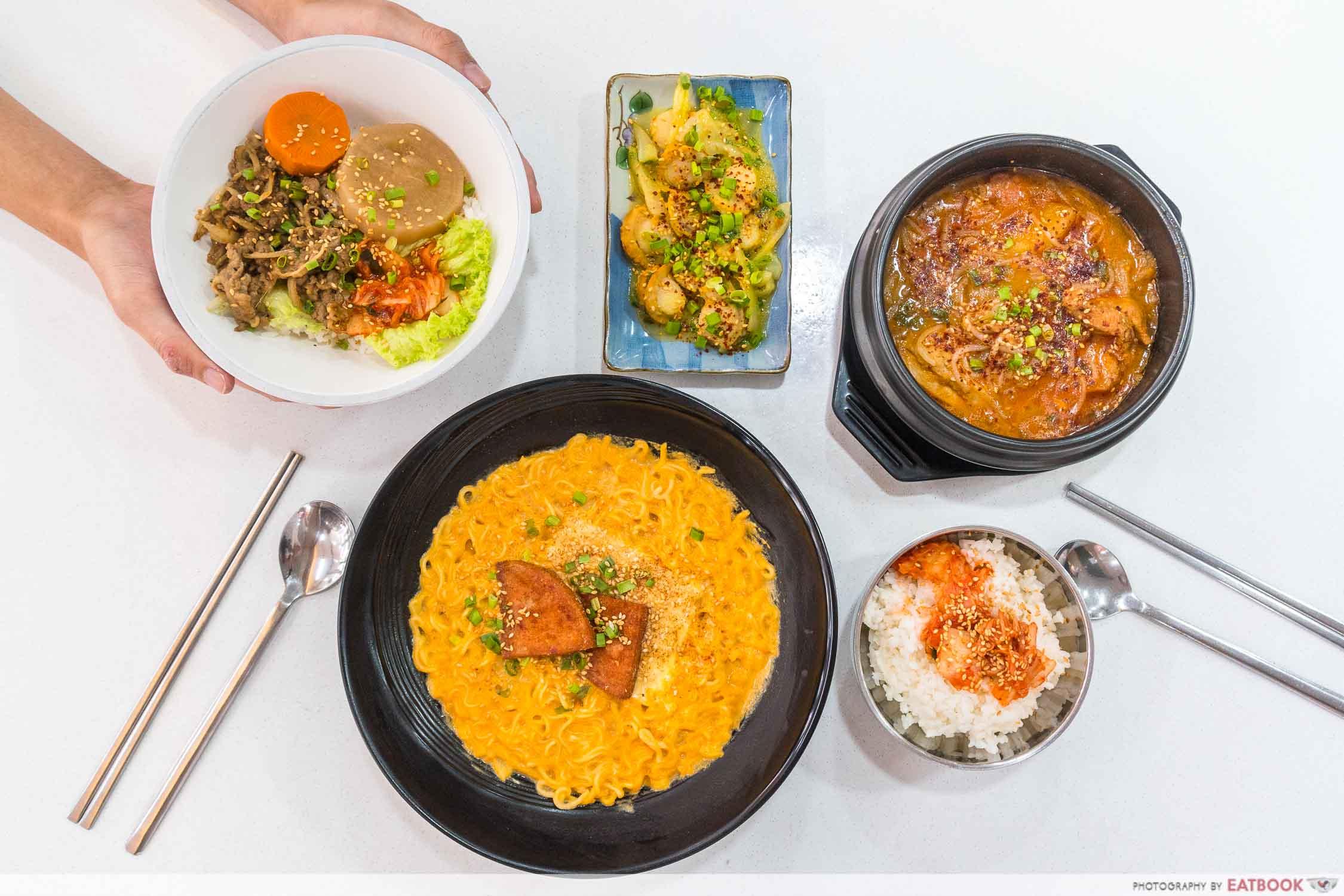 Hungry Korean - flat lay