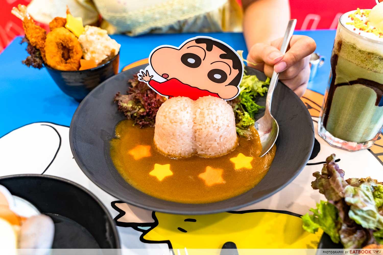 crayon shinchan cafe curry rice