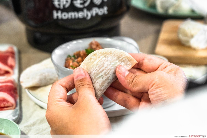homelypot dumpling kit - wrapping