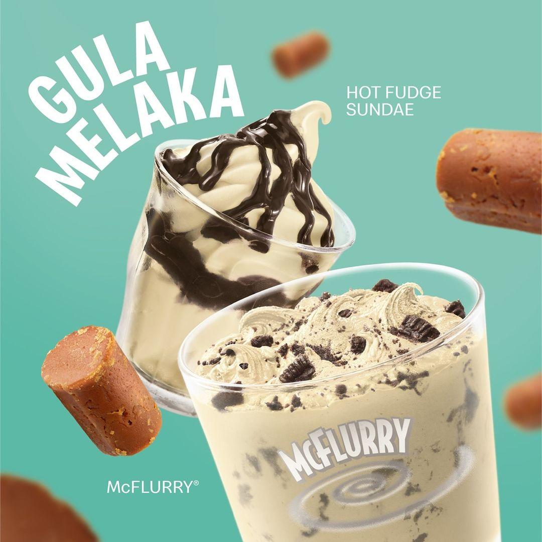 mcdonalds gula melaka mcflurry ice cream