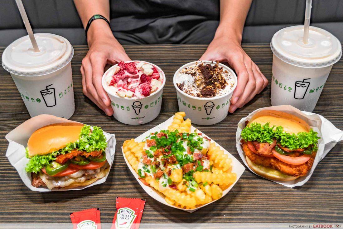 new restaurants may 2021 - shake shack flatlay