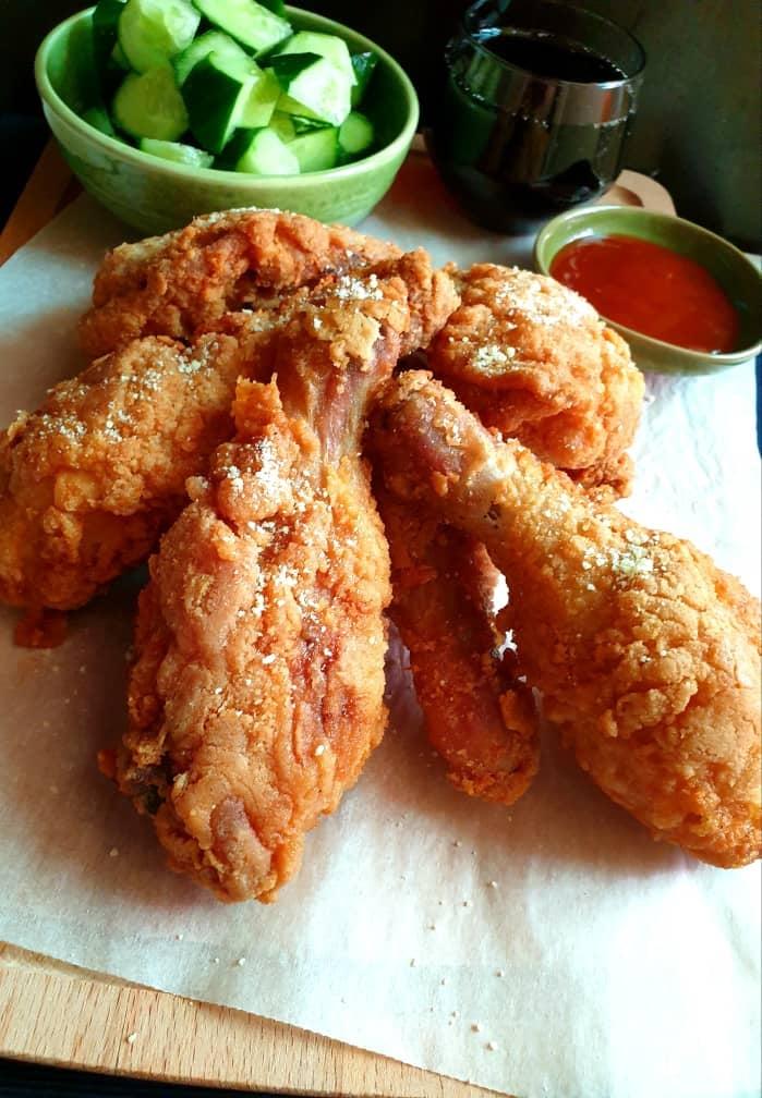 drumstick at winner's fried chicken