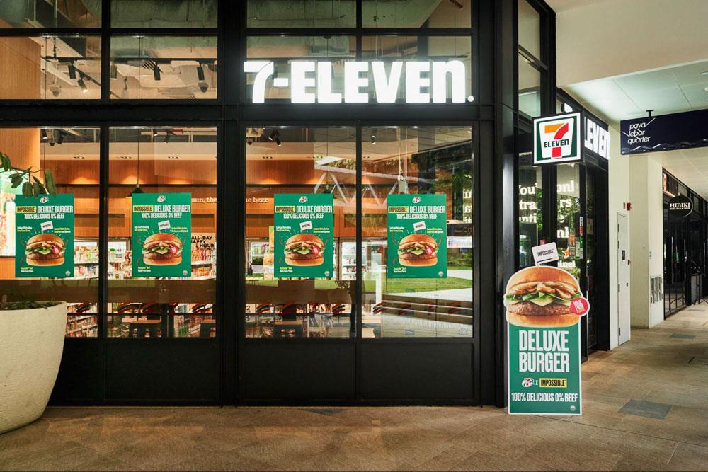 7 Eleven Impossible Burger - storefront