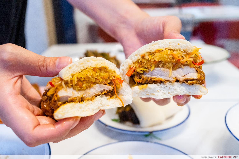 Abundance - Crispy Chicken Bun - cross section