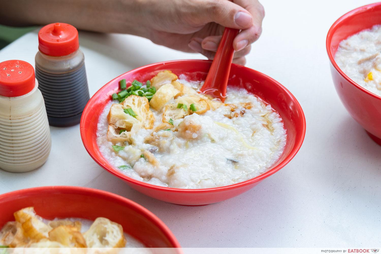 Johor Boon Kee Pork Porridge - chicken and fish porridge