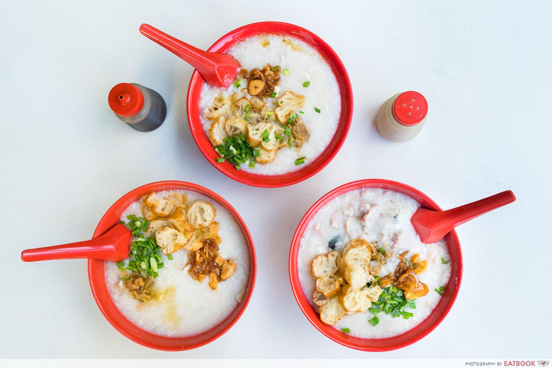 Johor Boon Kee Pork Porridge - flatlay