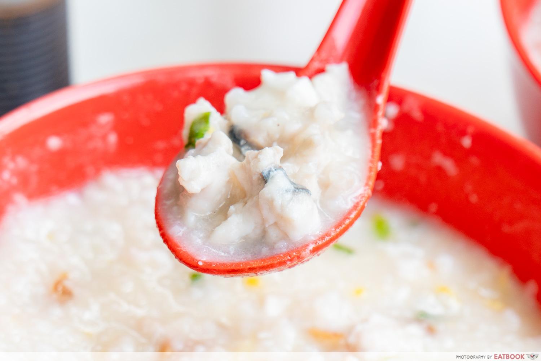 Johor Boon Kee Pork Porridge - slice fish
