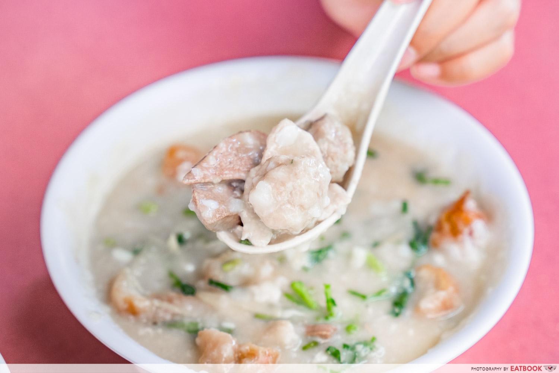 Mei Jie Porridge - mixed pork porridge