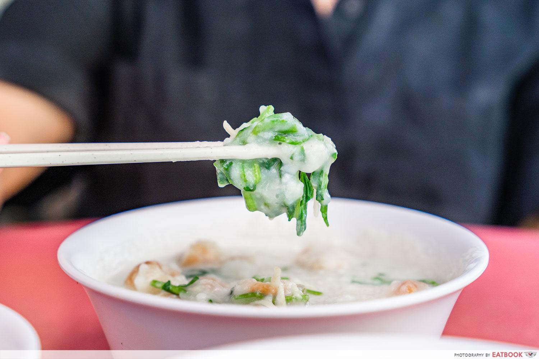 Mei Jie Porridge - watercress
