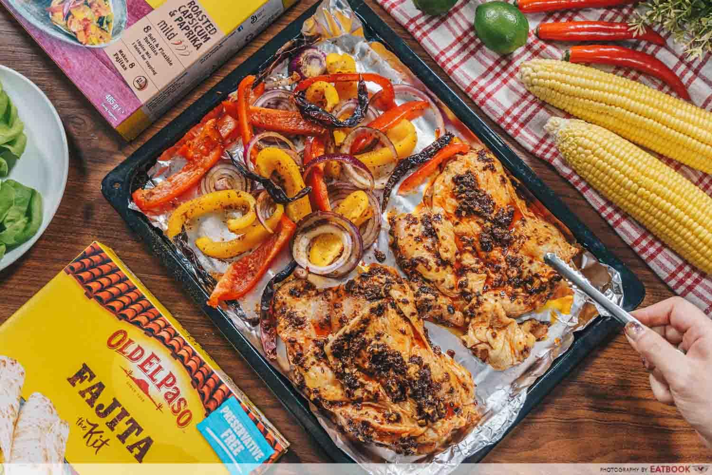 Old El Paso - mala chicken flatlay