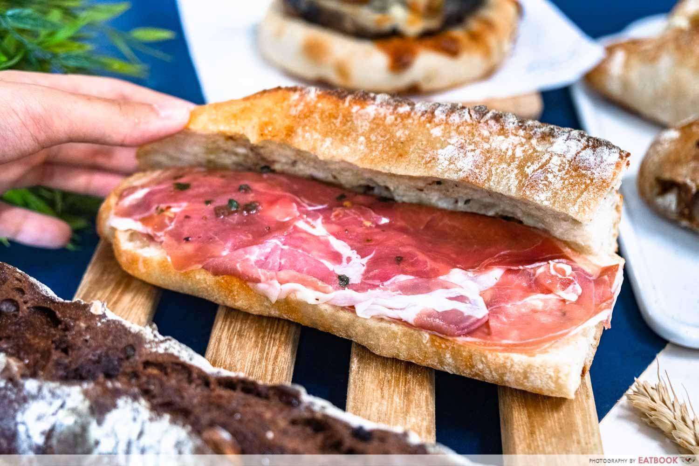 pickle bakery - parma ham & burrata sandwich (1)